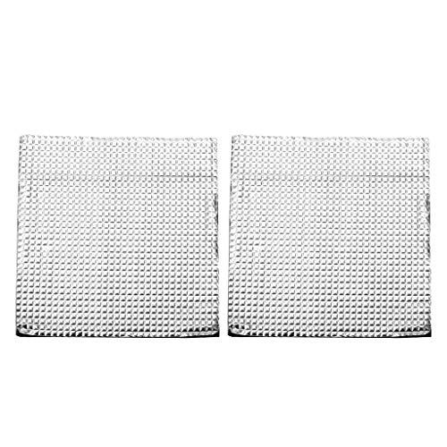 SDENSHI 2 Stücke 3D Drucker Beheiztes Bett Wärmeisolator Baumwolle Isoliermatte 400x400mm