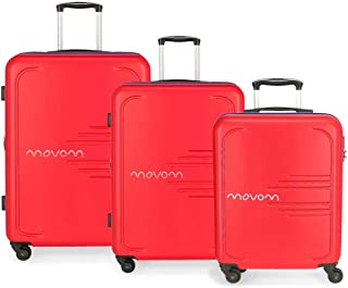 MOVOM Luggage Set, red, 79 cm