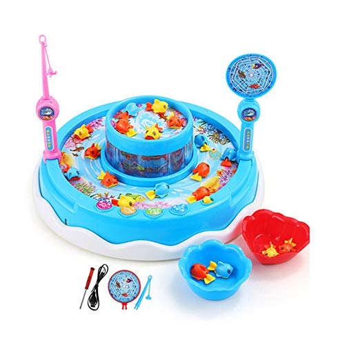 Buy Discount ZHLJ Children's Fishing Toy Baby Kitten Electric Fishing Benefit Toy