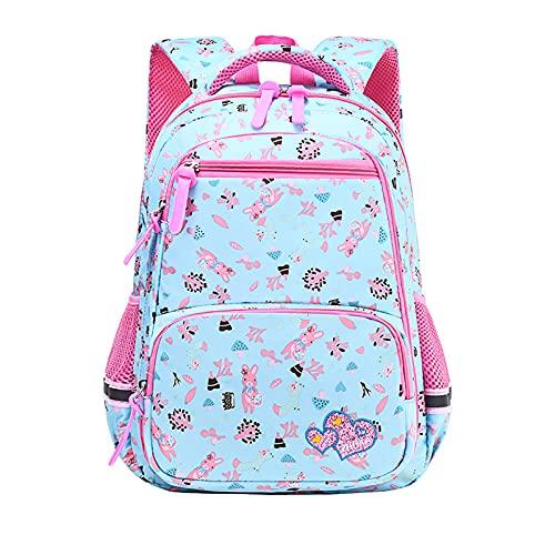LZJDS Sacs à Dos pour Les Adolescents Filles Schoolbags Sacs à Dos d'école élémentaire de la Maternelle,Vert