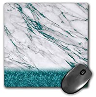3dRose Luxury Grey Aqua Teal Gem Stone Marble Glitter Metallic Faux Print Mouse Pad (mp_268849_1) [並行輸入品]