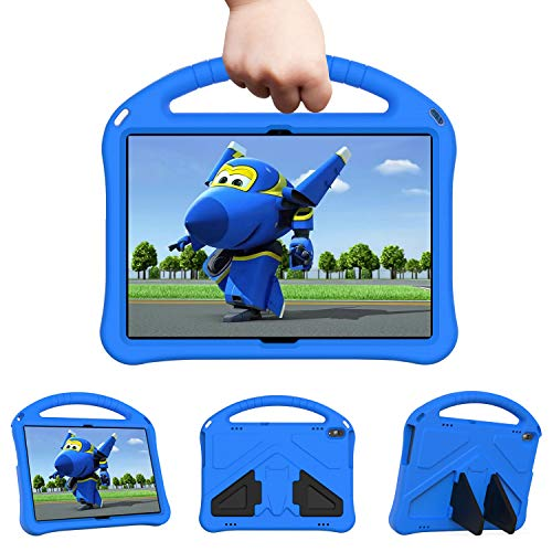 Uliking Kids Case for 10.1' Lenovo Tab M10 HD (TB-X505F,TB-X605F) / Smart Tab P10 (TB-X705F/L), Kids Friendly Light Weight Case with Handle Stand Shockproof Cover for Lenovo Tab M10 / P10 10.1', Blue