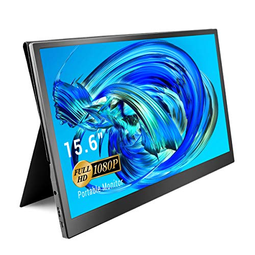 ELECROW Portable Monitor 15.6 Inch Full HD 1080P USB C Monitor with HDMI/Type C Second Screen for Laptop PC Phone Game Console
