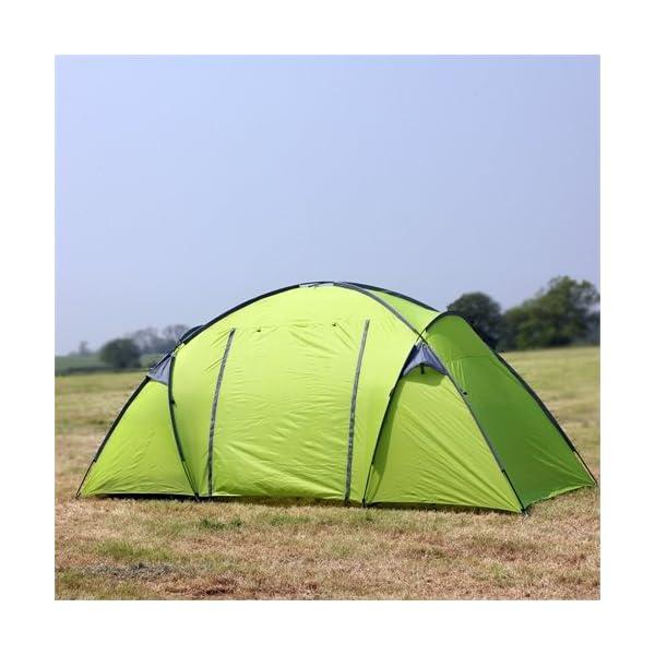 North Gear Camping Trekker Waterproof 6 Man 2 Room Tent