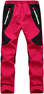 Youth Snow Pants with Reinforced Knees and Seat,Warm Climbing Trousers For Boys and Girls