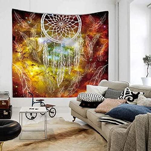 Atrapasueños de búho con tapiz de plumas Tapiz bohemio Microfibra suave panel de pared para colgar en la pared