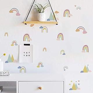 Runtoo Pegatinas de Pared Arcoiris Stickers Adhesivos Vinilo Vistosa Decorativas Salon Habitacion Bebe Dormitorio