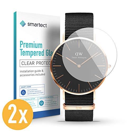 smartect Pellicola Protettiva per Generic Watch (36 mm) [2 Pezzi] - 9H Vetro Temperato – Design Ultra Sottile – Applicazione Anti-Bolle – Anti-Impronte