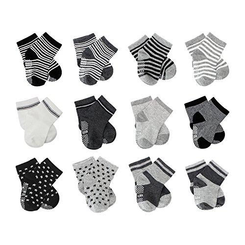 FUTURE FOUNDER 6er-pack Stoppersocken Kinder Baby ABS Socken, Anti Rutsch Socken für 0-24 Monate Baby Mädchen & jungen