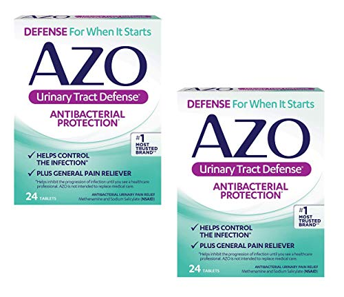 Azo Urinary Tract Defense Antibacterial Protection 24 Tablets (Pack of 2) by AZO