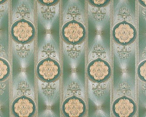 7668-23 Hermitage V. Tapete in grün, gold, metallics von AS-Creation als Satintapete