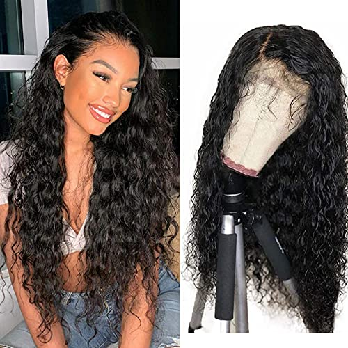 Kryssma Black Lace Front Wigs Long Curly Synthetic Wig for Women Heat...