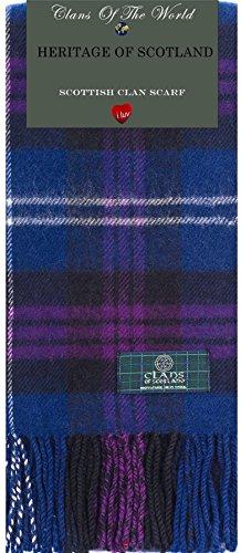 I Luv Ltd Heritage Of Scotland Tartan Clan Scarf 100% Soft Lambswool