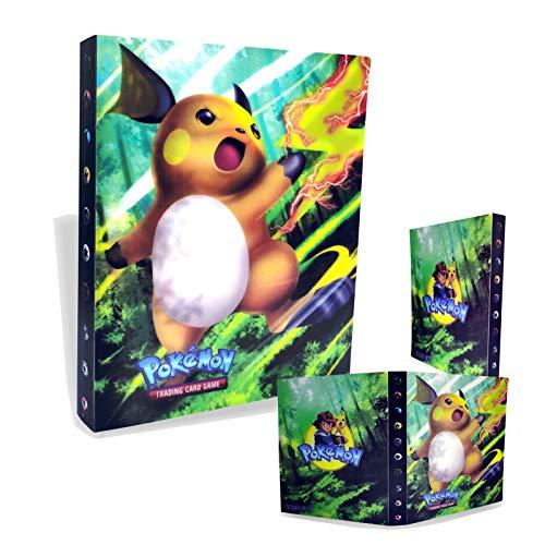 TUXUNQING Tarjetero Pokémon, Álbum de Cartas Coleccionables Pokémon, Álbum de Entrenador de Cartas Pokémon GX EX. El álbum Tiene 30 páginas y Puede Contener 240 Tarjetas. (Pikachu2)