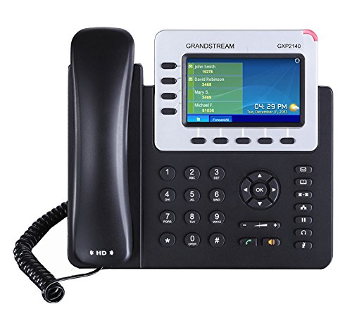 Grandstream Networks GXP2140, Teléfono IP, 4líneas, LCD, 480 x 272 Pixeles, Negro