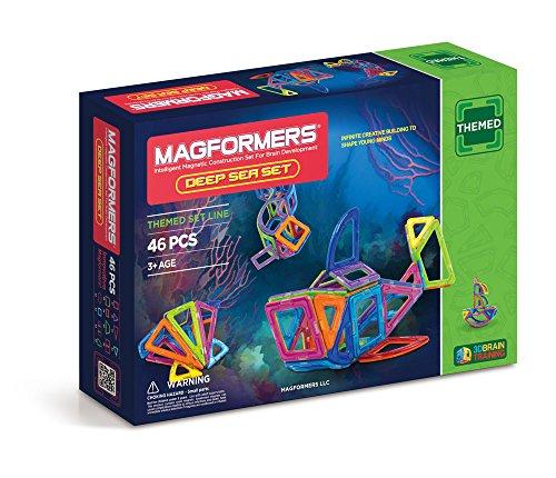 Magformers Deep Sea (46-Piece) Set Magnetic Building Blocks, Educational Magnetic Tiles Kit , Magnetic Construction STEM sea animal Toy Set