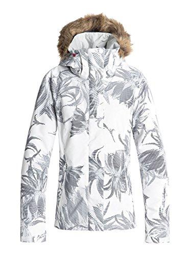 Roxy Jet Ski Chaqueta, Mujer, Blanco (Bright Blanco_Swell Flowers), XL