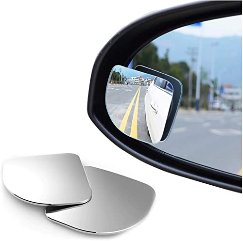Automaze 3R 360 Degree Car Wide Angle Round Convex Blind Spot Mirror(2 Pc, Triangle, 3R-056)
