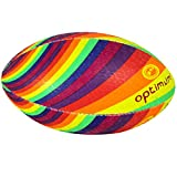 Optimum - Pelota de Rugby para Hombre, Color Twister Rainbow, tamaño Mini