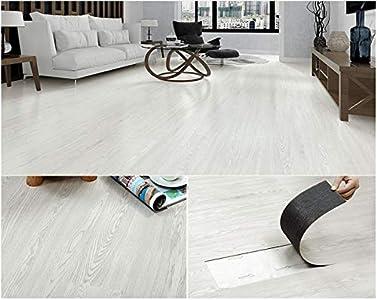 Placas autoadhesivas de PVC para suelo, color gris, blanco, beige, marrón, roble 5 m2 por paquete