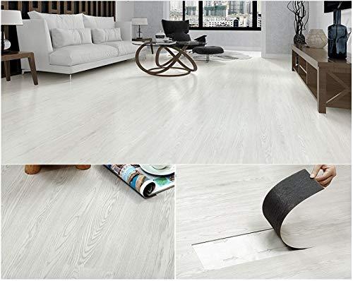 Piastrelle autoadesive in PVC per pavimenti, colore grigio, bianco, beige, marrone, rovere, 5 m² per confezione.