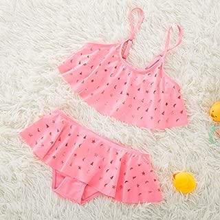BEESCLOVER Girls Hollow Swimsuit Infantil Girl Split Swimwear Cute Kids Star Pattern Kids Two Pieces Bathing Suit