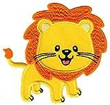 PatchMommy Löwe Patch Aufnäher Applikation Bügelbild - zum Aufbügeln oder Aufnähen - für...