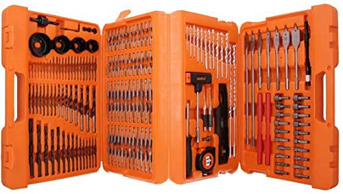 WELLCUT Multi-Functional 217-Piece Complete Drill and Screwdriver Bit Set for Metal/ Masonry/ Wood Application Suitable for DIY and Professionals like P-44046