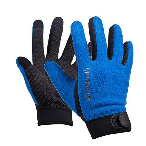 Fleece handschoenen voor de winter, warm, winddicht, met dik touchscreen, voor fietsen, wol in de buitenlucht