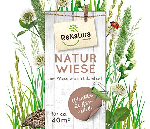 Greenfield ReNatura Naturwiese Gäser Blumen Samen 1kg für ca. 40 m²