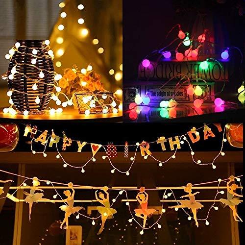 XXYWJF Holiday Light Chain Ball LED String Lighting 6M USB Lamp Bulb Light String Waterproof Outdoor Wedding Christmas Led String Lighting Strings (Emitting Color : 6M 40LEDS, Wattage : Warm White)