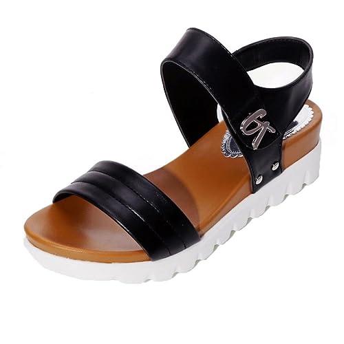 f84845a6 Sandalias mujer, ❤️Amlaiworld Sandalias de vestir Sandalias planas de  mujeres Calzado cómodos Zapatos al