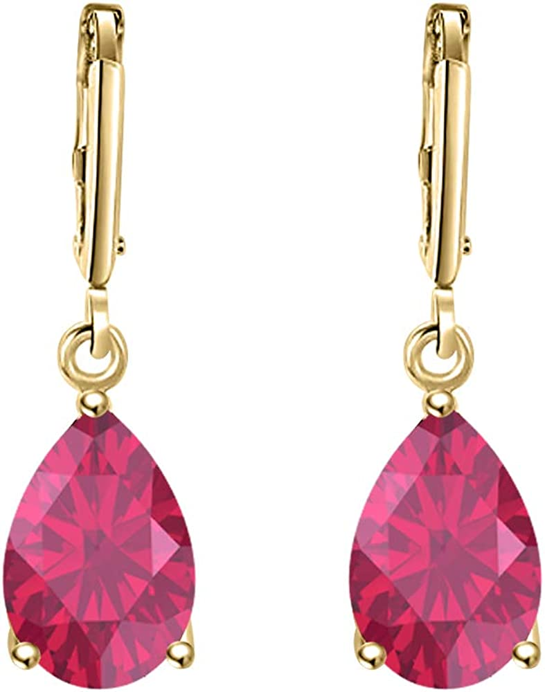 tusakha 40% OFF Shipping included Cheap Sale Wonderful 6x8mm Pear Cut .925 Sterling Ruby Silver Over