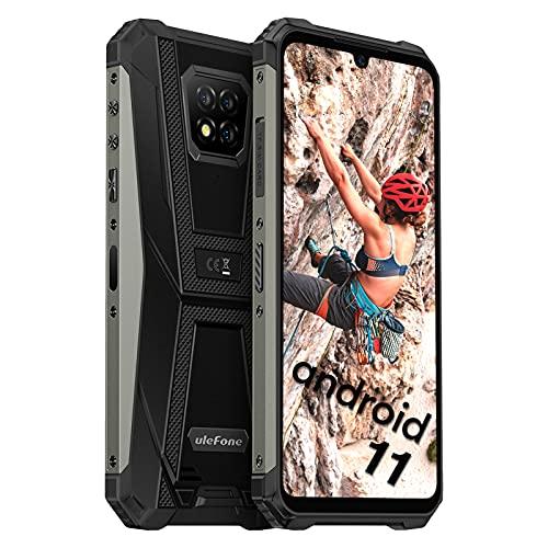 Ulefone Armor 8 Pro Smartphones Wasserdicht - Android 11 Outdoor Handys ohne Vertrag Staubdicht Fallfester AI Qcta-Core Prozessor 6+128GB 6,1-Zoll-Display 16MP+5MP+2MP+8MP Kameras (Schwarz)
