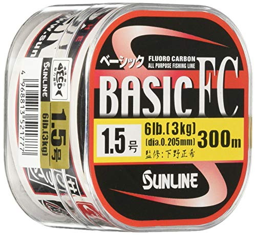 サンライン(SUNLINE) フロロカーボンライン ベーシックFC 300m 1号 4lb