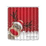 Set de cortina de baño de Navidad con diseño de feliz, decoración de Navidad para el hogar, Navidad, adornos de Navidad, regalos de Año Nuevo 2021