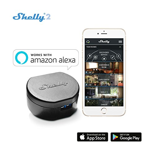 Shelly 2 – Wireless Dual relè Interruttore Intelligente domotica, Funziona con Amazon Alexa 1...