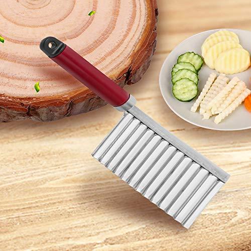 iTimo Cuchillo de cocina ondulado con agujeros para colgar, color aleatorio