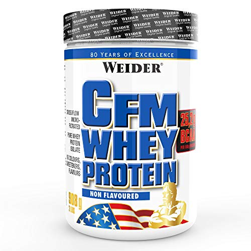 CFM Whey Protein With BCAA's, Non Flavoured, Pure Whey Protein Isolate, 908 g