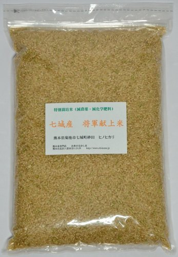 熊本県七城産 グランクリュ砂田の米 玄米 ヒノヒカリ 2kg 令和2年産 農薬節減