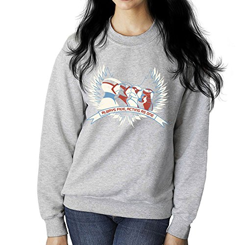 Cloud City 7 Always Five Acting As One Battle of The Planets Science Ninja Team Gatchaman Women's Sweatshirt