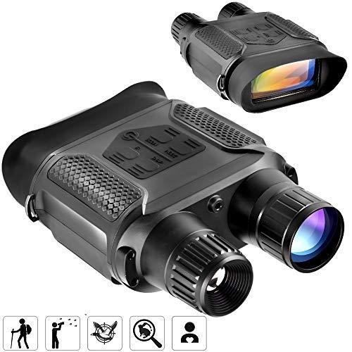 """Braveking1 Digitale Binoculare Visore Notturno, Night Vision per La Caccia 7X Ingrandimento 2"""" TFT Schermo 400M Distanza di Rilevamento Raggi Infrarossi HD Telecamera con Immagine e Video Funzione"""