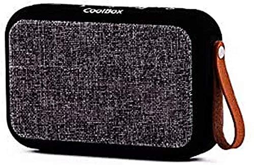 CoolBox CoolSoul - Altavoz bluetooth portátil con protección frente al agua IPX5, USB, estéreo. Color negro