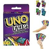 Uno Flip - Juego de cartas (versión de Reino Unido, descripción en inglés, instrucciones en alemán)