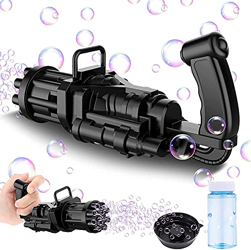 THESIYA Bubble Gatling Gun Gatling Bubble Machine Toys for Kids 9-Hole Gift for Boys and Girls Outdoor Activities Bubble Machine in Summer Bubble Maker Machine