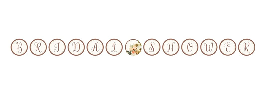 Creative Converting 318157 Ribbon Shaped Banner, Rose Gold Bouquet