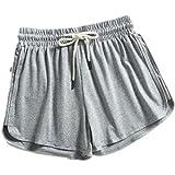 Pantalones Cortos Deportivos Sueltos Regulares de Verano para Mujer Pantalones Cortos de Playa con Cintura elástica con cordón Informal para Vacaciones de Verano Esencial Small