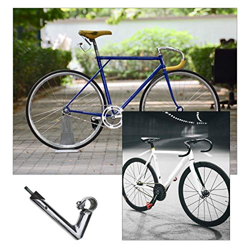 22.2mm Quill Stem Minus 17 Degrees 25.4mm/1Inch Dia Silver Aluminum Alloy Gooseneck Handlebar Stem Retro Cycling Components for MTB Road Bike