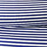 Jersey-Stoff – Mittelblau gestreift – Jersey –