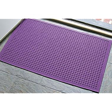 WaterHog Fashion Commercial-Grade Entrance Mat, Indoor/Outdoor Charcoal Floor Mat 3' Length x 2' Width, Purple by M+A Matting